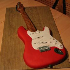 Life Sized Electric Guitar Cake Life sized electric guitar cake!