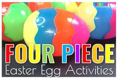 I found the Easter Egg Unicorn- four piece Easter Eggs. I didn't even know these existed. Check out these Printable activities.