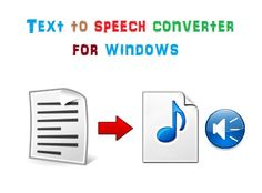 Text to voice converters - Best TTS software for Windows  Text to speech or text to voice or audio is a great way to create an audio with human sounding voice. Many YouTube users uses Text to speech (TTS) software to give the background voice to their videos. There are many other uses of converting the text into voice like if you have problem with your eyes then you can listen to the text aloud using TTS software. So here we are discussing some best TTS software for Windows to convert text…