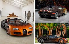 Bugatti Veyron Grand Sport Car designed by French artist Bernar Venet