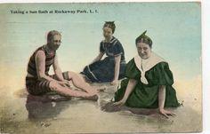 Taking a Sun Bath at Rockaway Park, L.I.