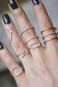 Swarovski Elegant Ellipse Ring Rose Gold from kellinsilver.com