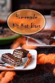 Homemade Vegan Kit Kat Bars from @ohsheglows. Genius!