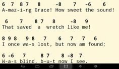"Harmonica notes for the song, ""Amazing Grace"""