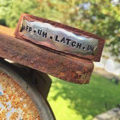 Appalachia prounounciation App-uh-latch-uh  thin leather cuff bracelet App State, Bee Necklace, Leather Cuffs, Brown Leather, Copper Metal, Appalachian Mountains, Appalachian Trail, Bracelets