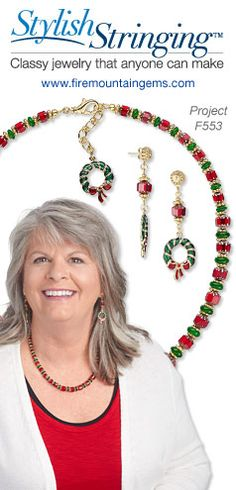 This well-timed style statement is simple to string, making any and all upcoming celebrations effortlessly festive.   #diyjewelrymaking #beading #jewelrymaking