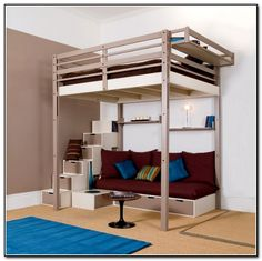 Loft Bed With Desk And Storage For AdultsHome Furniture Design ...