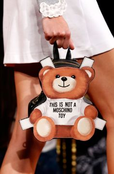 Best Women's Handbags & Bags : Moschino Fashion Show Details Gucci, Fendi, Givenchy, Burberry, Balenciaga, My Bags, Purses And Bags, Novelty Handbags, Mini Mochila