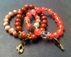 Plush Life Stretch Beaded Bracelet Set by AncientBrand on Etsy