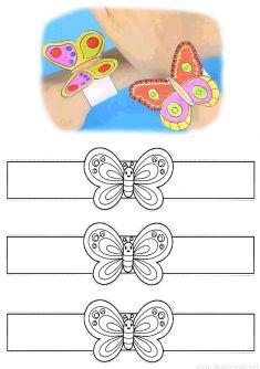 Diy Crafts For Girls, Animal Crafts For Kids, Spring Crafts For Kids, Diy Arts And Crafts, Projects For Kids, Diy For Kids, Kids Crafts, Paper Crafts, Paper Bracelet