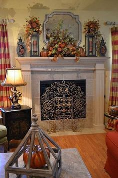 Who said decorating the fireplace mantel is only for Christmas? Add the perfect decorations for fall!