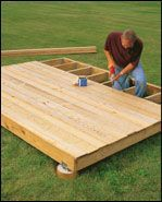 Do-it-Yourself - Building a Ground-Level Deck #buildingadeck