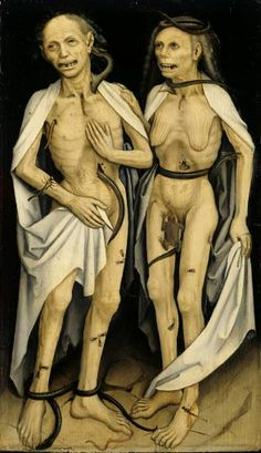 The Dead Lovers c. 1470. Medieval painting.