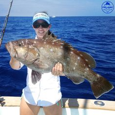 #PelagicGIRL @sassy.sara is bringing home dinner tonight with this tasty Snowy Grouper.  Go check out the @pelagicgirl page to see more of Sara and the rest of the Pelagic Girls.  Photo: @captnickstanczyk #PelagicGIRL #PELAGICWORLDWIDE #SnowyGrouper #Tacos
