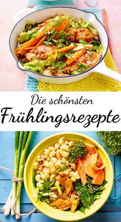 Dank dieser #Rezepte erhält der #Frühling Einzug auf die Teller! Leichte Gerichte mit knackigem #Gemüse stehen jetzt hoch im Kurs!