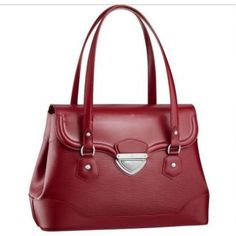 Women Louis Vuitton Epi Leather Bagatelle GM Rubis M4022M