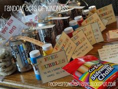Random Acts of Kindness-done as a young women/youth group activity. I like this idea, maybe a monthly activity, could be as small as sidewalk chalk for kids in Sunday school, or as big helping a family in need Service Mutual Activities, Youth Group Activities, Young Women Activities, Church Activities, Youth Groups, Kindness Activities, Youth Games, Therapy Activities, Activity Day Girls