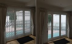 RSG1000 Concertina Security Grilles fitted to the living room of a residential property in Richmond