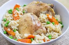 This healthy dish with chicken, brown rice and vegetables is a casserole-makers' dream. All you do i... - Dinner, Then Dessert