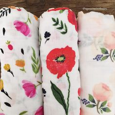 100% Cotton Organic Muslin Florals are here! spearmintLOVE.com
