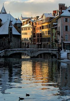 France has plenty of picturesque villages but the larger urban areas also have an aesthetic appeal. Here are the 13 most beautiful cities in France. Annecy France, Paris France, France City, Places In Europe, Places To Go, Lake Annecy, French Pictures, Clermont Ferrand, Chamonix