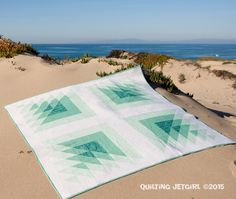 "Yvonne Fuchs​ from Quilting Jetgirl​ has released her fabulous new pattern ""Triangle Transparency"" using Joel Dewberry Eclectic Modern​ for FreeSpirit Fabrics​ and Carolyn Friedlander llc​ for Robert Kaufman Fabrics​ and quilted with ‪#Aurifil​‬ thread. ""Dense straight line matchstick quilting using #Aurifil 2000 (this is the first quilt that I quilted on my long arm!)"" To read more please visit http://quiltingjetgirl.com/2015/04/05/triangle-transparency-pattern-release-blog-hop/"