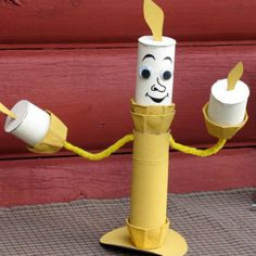 Create a Tissue Tube Candelabrum princess craft inspired by the movie Beauty & the Beast. Enjoy this fun craft activity with your kids and family.
