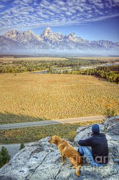 Overlooking the Grand Tetons Jackson Hole