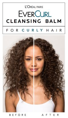 The new EverCurl cleansing balm (conditioning shampoo) for curly hair. Rehydrates curls without stripping, drying or build-up.