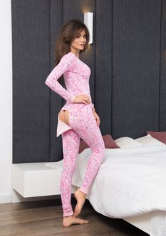 On the bum, the flap is also fastened with the help of a push buttons. and make you feel comfortable and sexy. Half-round neckline fastened with 3 push buttons. Pyjama Sexy, Sexy Pajamas, Satin Pyjama Set, Pajamas Women, South Indian Actress Photo, Couple Pajamas, Womens Pjs, Pajama Suit, Outfit