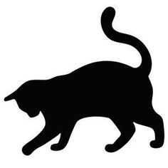 For my quilt label? - Cat Silhouette Clipart Image: Cat ...