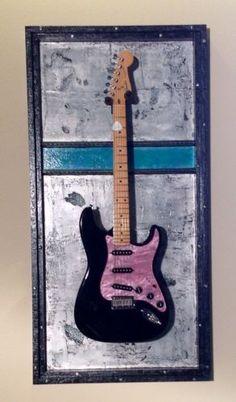 Guitar Display Case Shadow Box, Guitar stand, Guitar holder