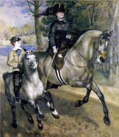Riding in the Bois de Boulogne (Madame Henriette Darras or The Ride) - Pierre-Auguste Renoir (1973)