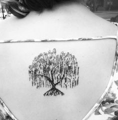 20 Best Weeping Willow Tattoo Images Nice Tattoos Awesome