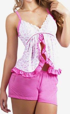 Pink Outfits, Dress Outfits, Ropa Interior Babydoll, Sleep Dress, Old Dresses, Girl Fashion, Womens Fashion, Pajamas Women, Nightwear