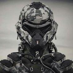 sci fi military helmet