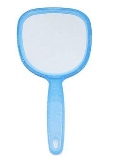 Handspiegel Spiegel Kosmetikspiegel Blau oder Weiß  001