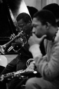 Miles Davis and John Coltrane, NYC, 1958