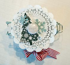 anma.no - 12 Days of Xmas - Decorated glass with cookies by Dt Linda.