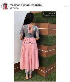 Saree Jacket Designs, Half Saree Designs, Dress Neck Designs, Fancy Blouse Designs, Designs For Dresses, Churidar Designs, Kurta Designs Women, Kalamkari Dresses, Long Dress Design