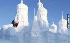 Awesome snow sculptures - MemePix