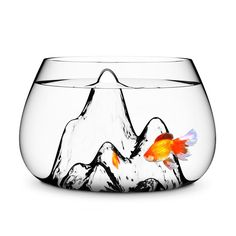 "This cute ""fishscape"" bowl makes me want to go buy a goldfish first thing tomorrow! :)"