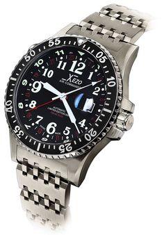 Xezo Air Commando Divers Pilots - Reloj automático suizo GMT en edición limitada…