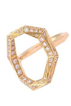 Octium's 18-karat yellow gold and diamond ring.