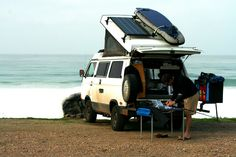 This is the setup I want. Except a hat for camping gear and a swing arm hitch mount bike carrier