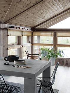 Stort fotogalleri av interiør og innredning fra Hedda-hytta   Hedda Hytter