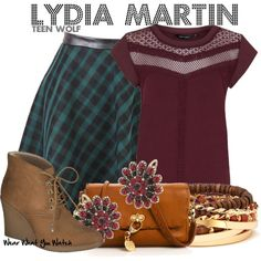 Inspired by Holland Roden as Lydia Martin on Teen Wolf. Teen Wolf Fashion, Teen Wolf Outfits, Fashion Tv, Cute Fashion, Casual Outfits, Cute Outfits, Fashion Outfits, Fall Outfits, Lydia Martin Style
