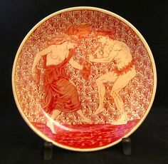 "William De Morgan ""Bacchic Revellers"" Charger by WILLIAM DE MORGAN - AD Antiques"