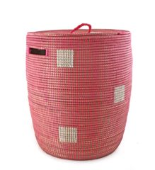 Pink African Laundry Basket