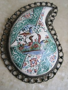 Antique Persian brooch paisley